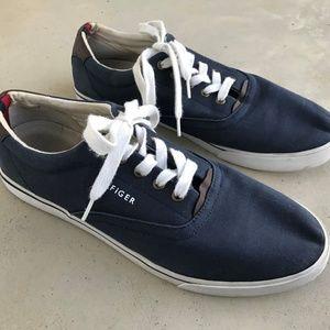 Tommy Hilfiger Men Shoe Blue Fabric Upper Casual